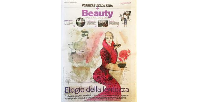 Watercolor ink fashion and beauty illustration, Alessandra Scandella