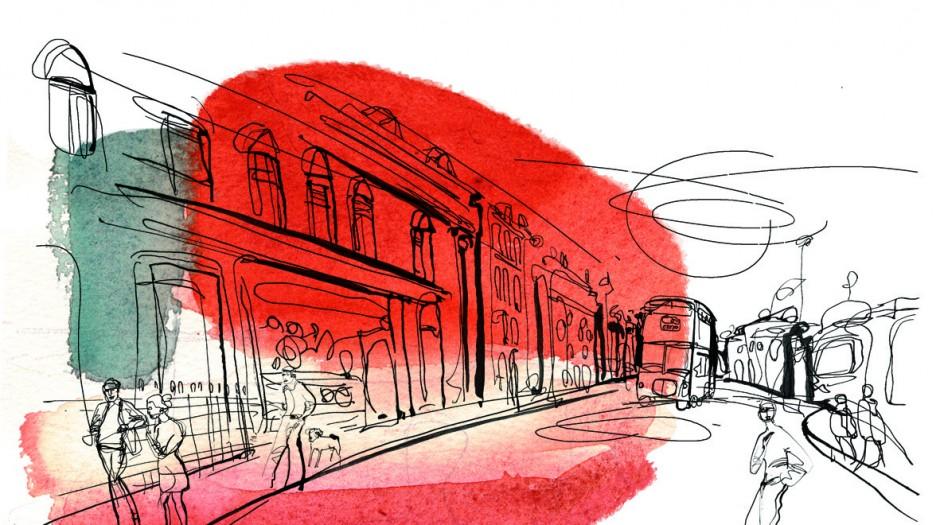 Acquerello,watercolour,città,city1-AlessandraScandella