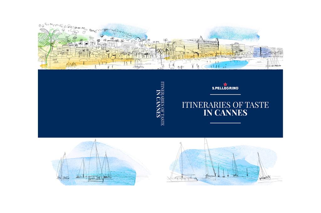 Illustrazione acquerello  Guida Cannes, mappa, Cannes, Croisette, Alessandra Scandella