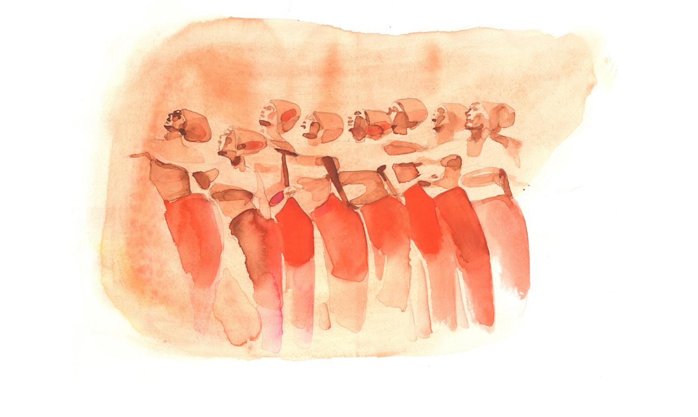 Illustrazione moda acquerello