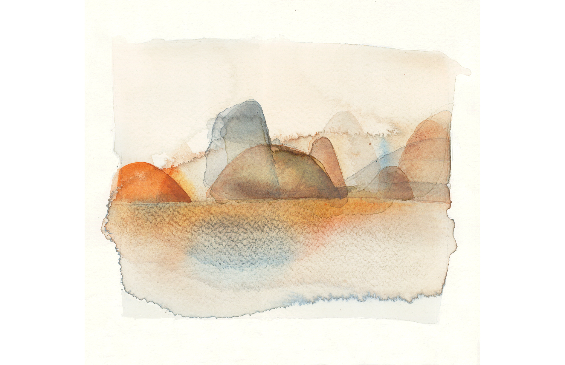 Watercolor illustration, landscape, Alessandra Scandella