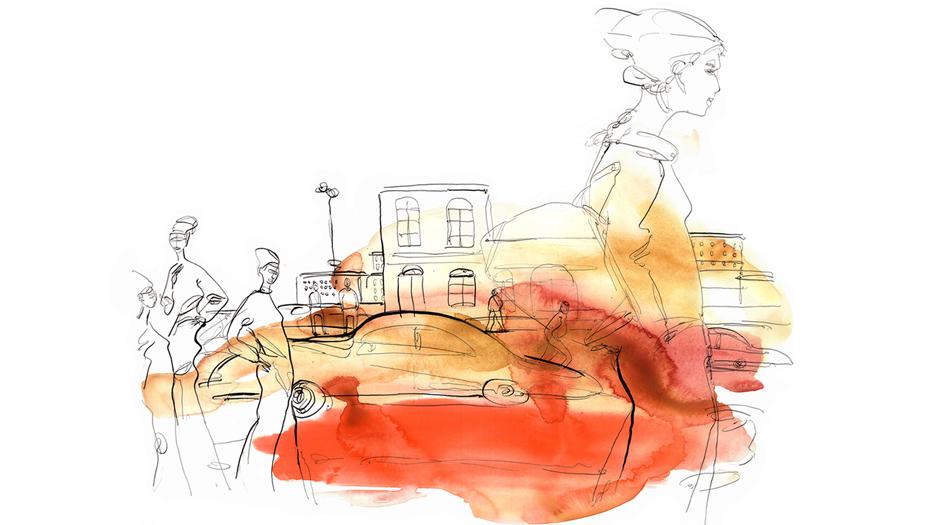 Watercolour, città. Alessandra Scandella