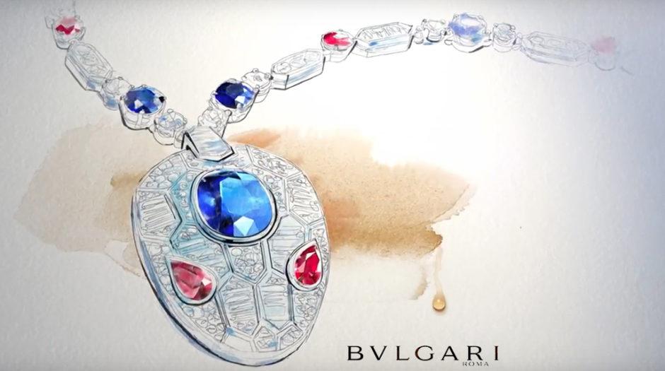 Illustrazione gioiello acquerello, Alessandra Scandella