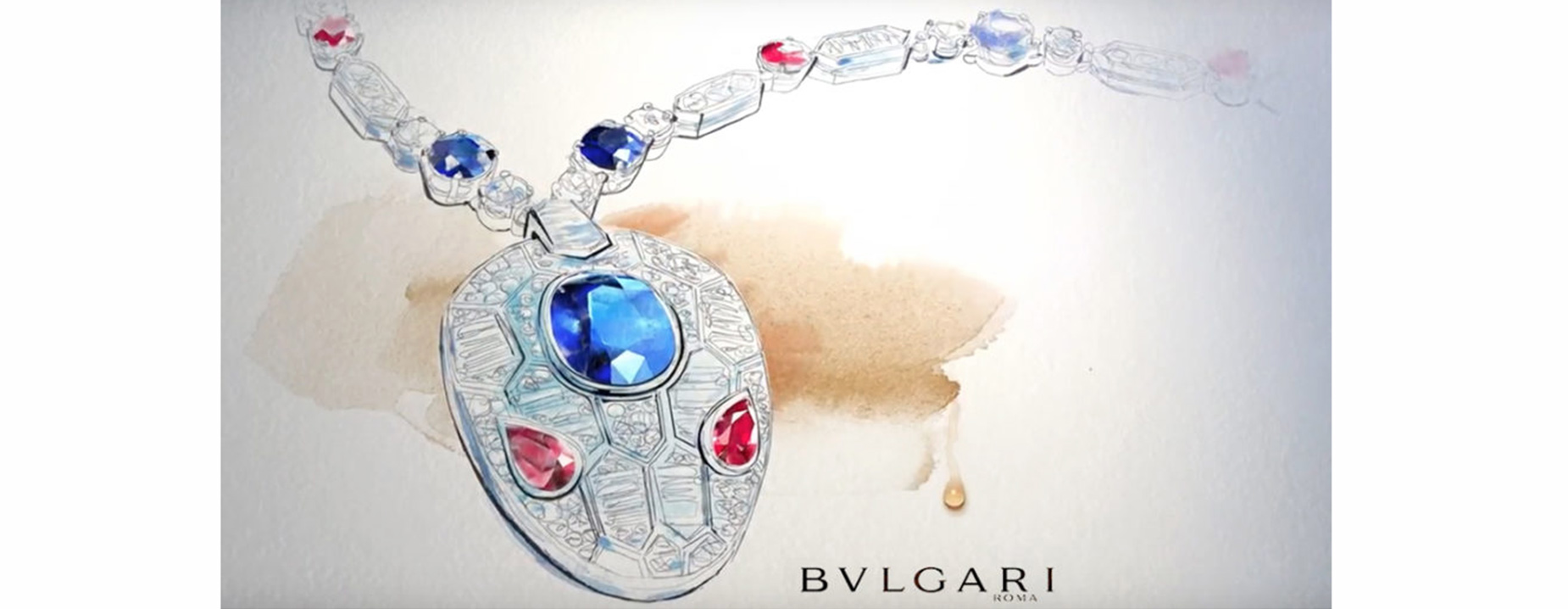 Watercolor illustration, jewellery, fashion, Alessandra Scandella