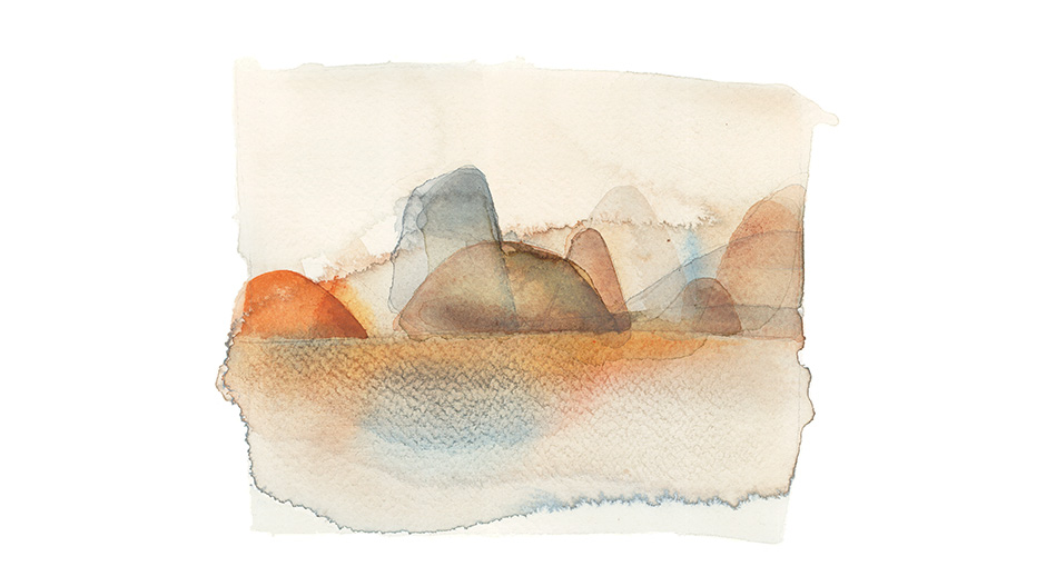 Sedafresco, wallpaper, Watercolor illustration, landscape, Alessandra Scandella