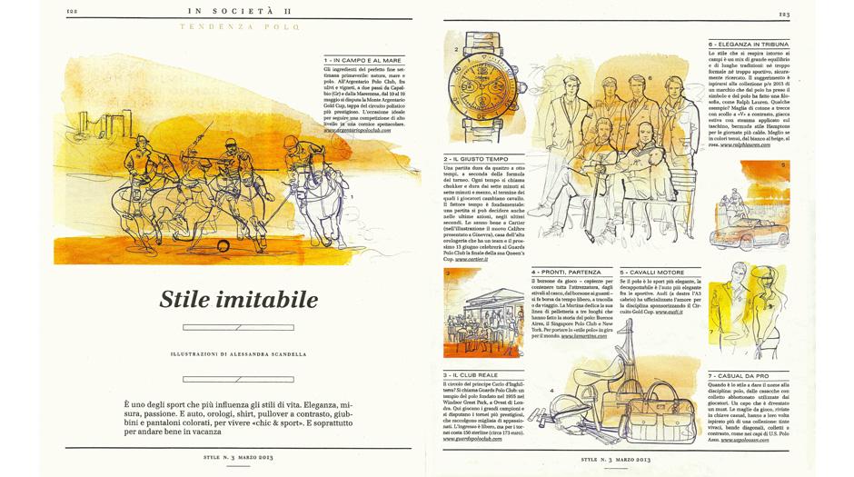 Style-Corriere della Sera, illustrazione acquerello, Alessandra Scandella ,moda uomo