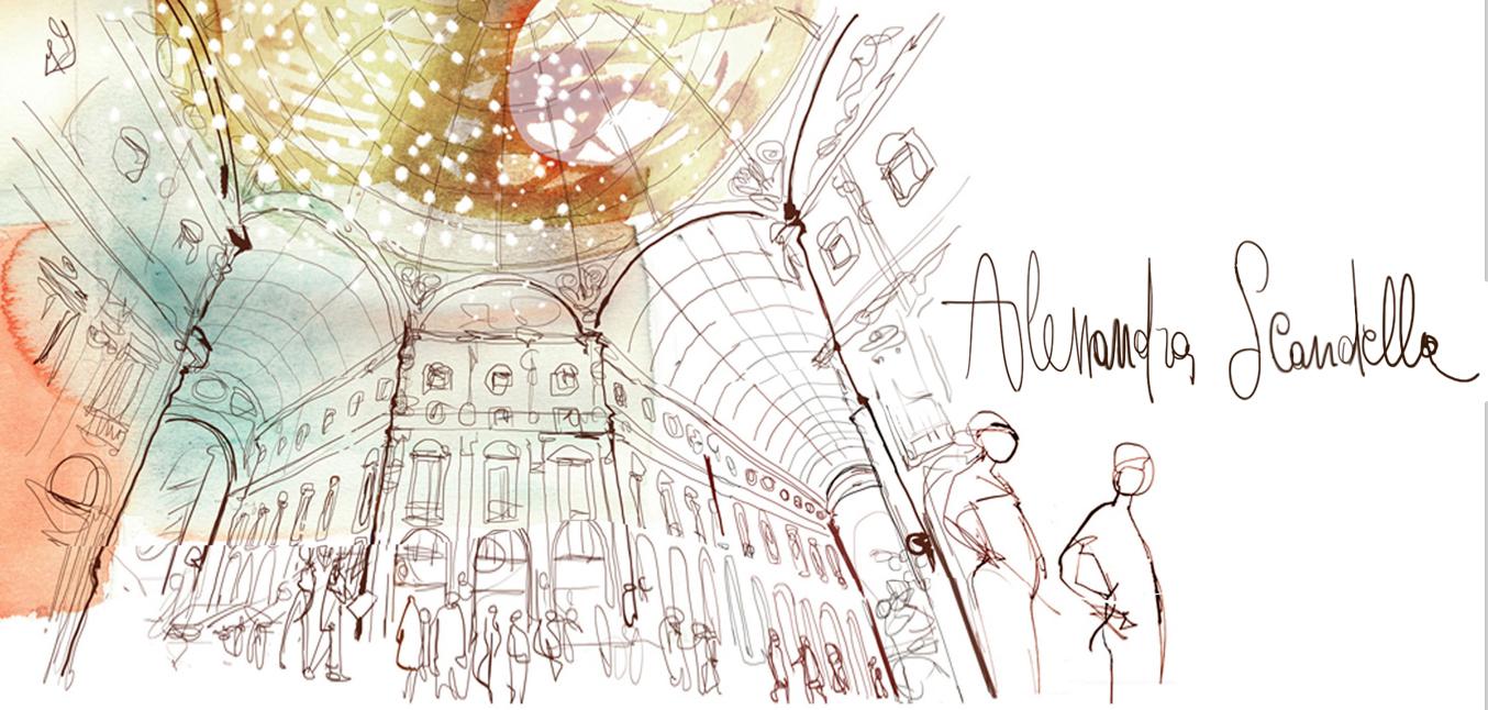 Alessandra scandellawallpaper illustration interior design for Design della moda milano