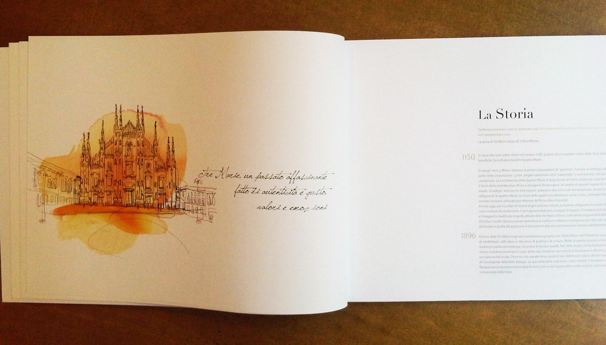 Illustrazione acquerello Milano