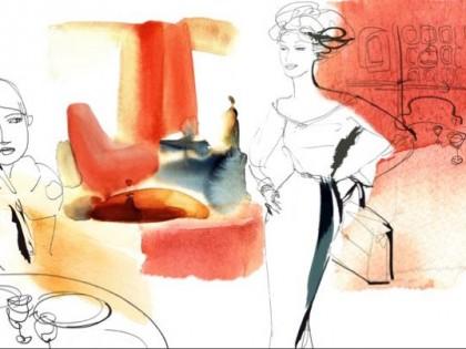 Acquerello moda e interno, Alessandra Scandella