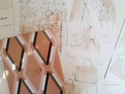 Illustrazione acquerello moda ,tod's, alessandra scandella