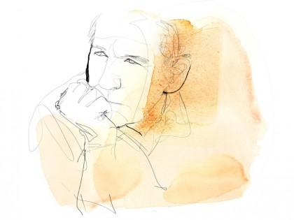 Ritratto 1a,illustrazione acquerello, Alessandra Scandella copia