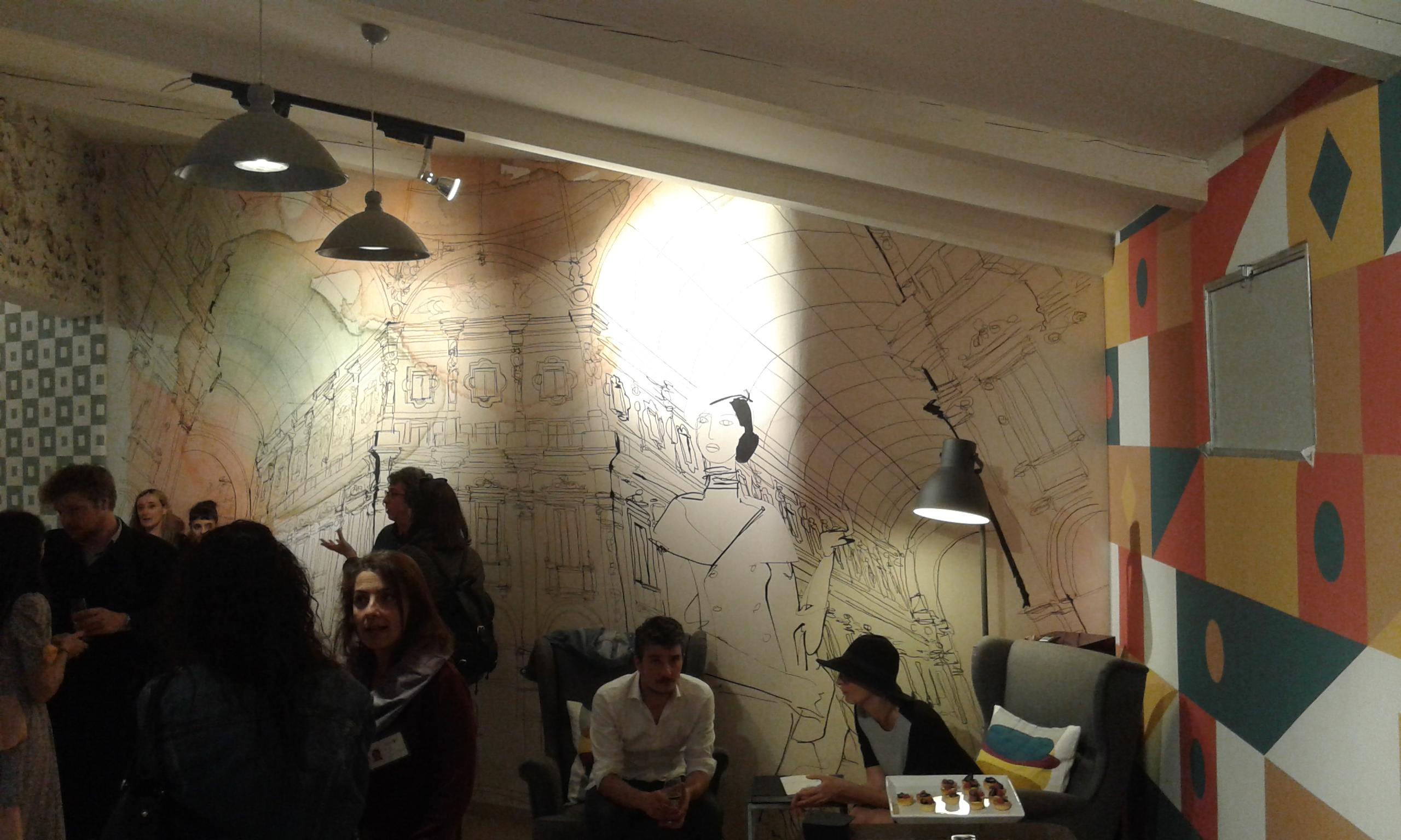 illustrazione acquerello per Wallpepper, Milano, Galleria Vittorio Emanuele