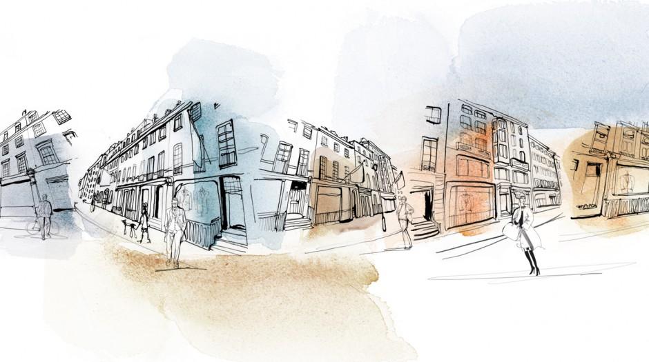 Illustrazione acquerello Londra, Alessandra Scandella