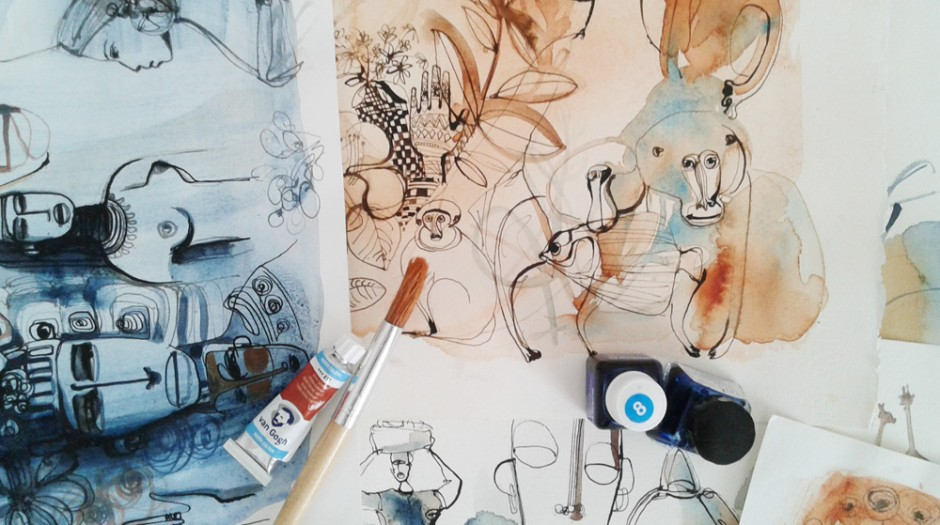 Illustrazione acquerello persone, Alessandra Scandella
