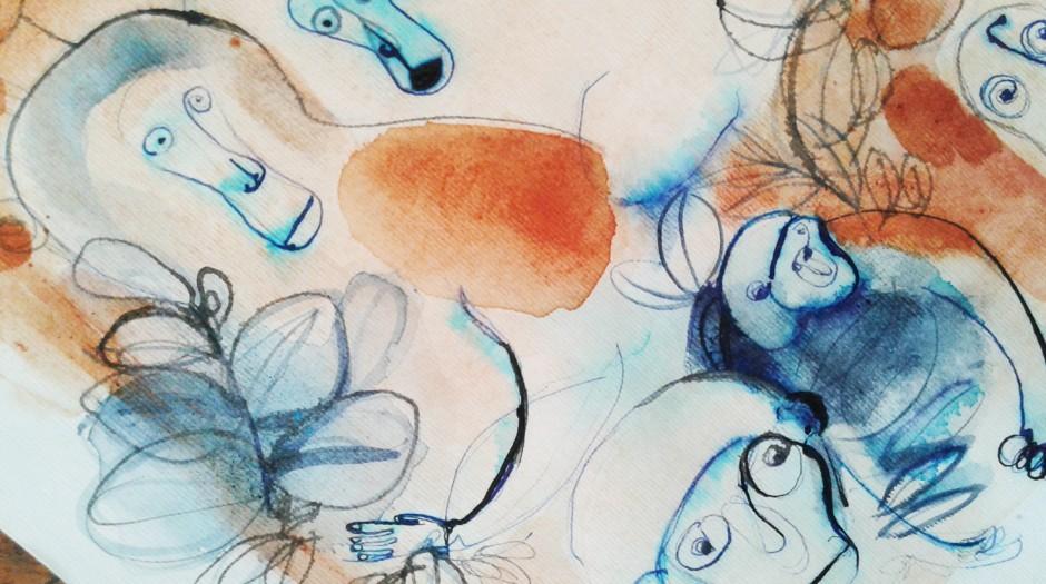 Acquarello, 1, illustrazione, animali, Alessandra Scandella