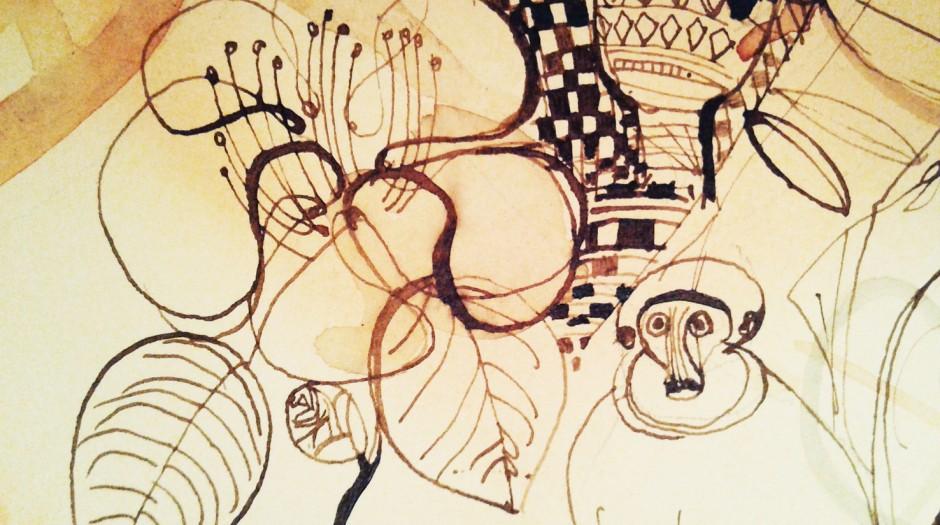 Illustrazione acquerello, viaggio, natura, Alessandra Scandella