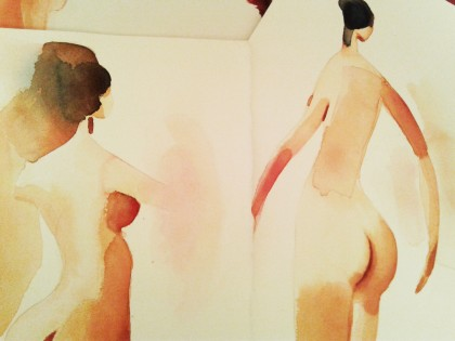 Illustrazione acquerello, nudi femminili