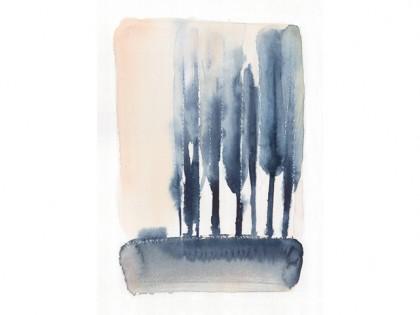 Acquerello, alberi, Alessandra Scandella
