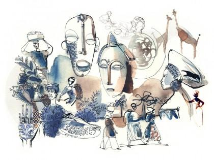 Illustrazione viaggio, acquerello