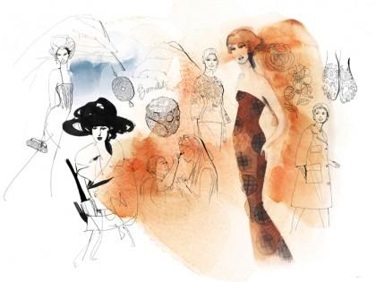 Illustrazione acquerello moda, 1,Alessandra Scandella