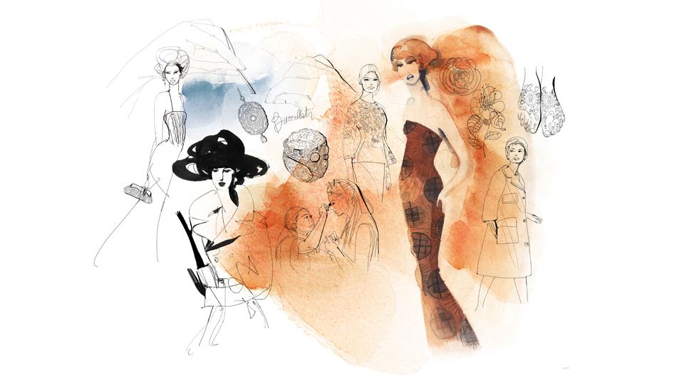 Alessandra ScandellaIllustrazione acquerello moda italiana