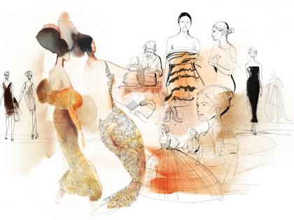 Illustrazione acquerello moda italiana, Alessandra Scandella