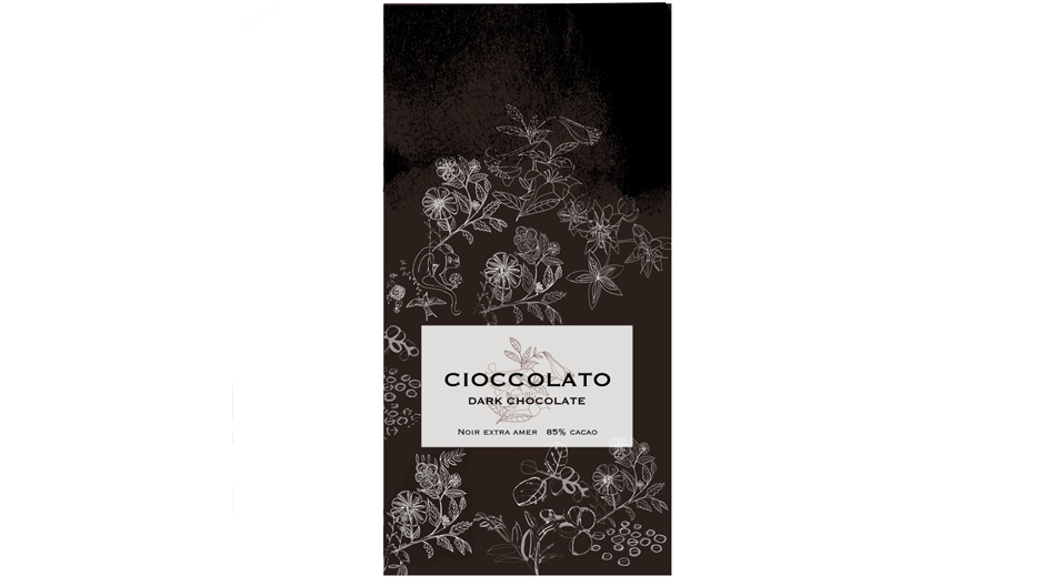 Illustrazione acquerello packaging cioccolato