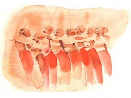 Illustrazione acquerello, danza