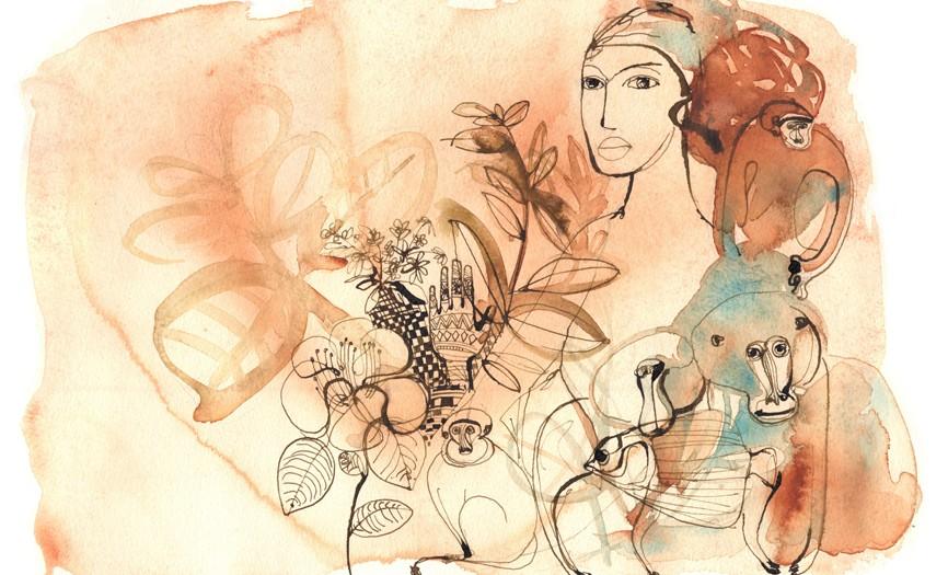 illustrazione acquerello, viaggio, natura, animali
