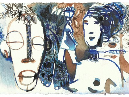 Illustrazione acquerello viaggio, 1, Alessandra Scandella