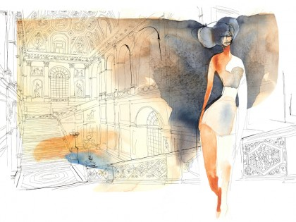 Watercolor illustration, fashion, 4, Alessandra Scandella