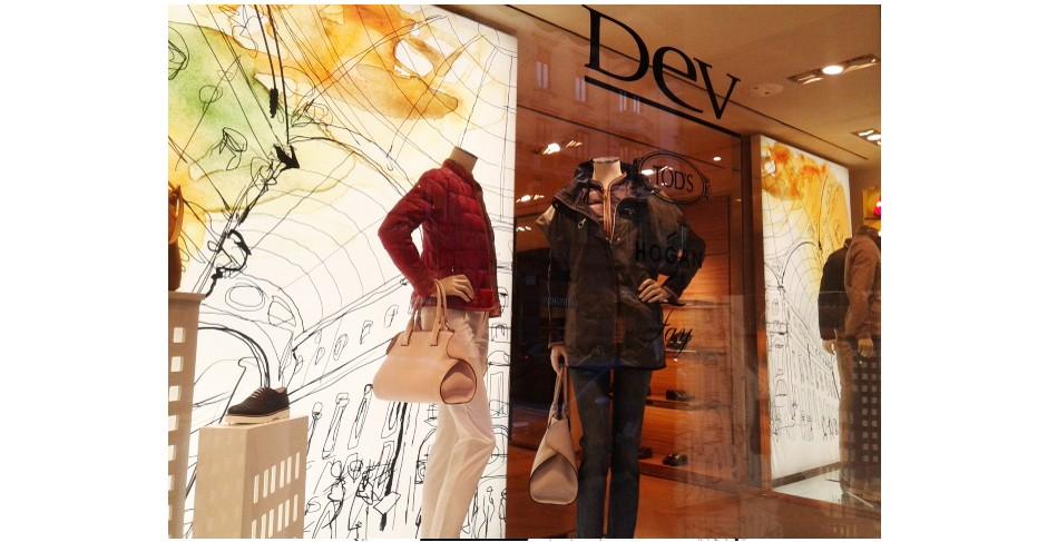 Illustrazione acquerello Tod's, moda, Alessandra Scandella