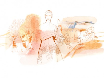 Illustrazione acquerello moda e bellezza, Alessandra Scandella