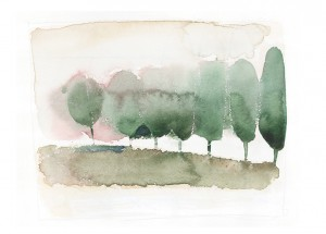 Watercolor, trees