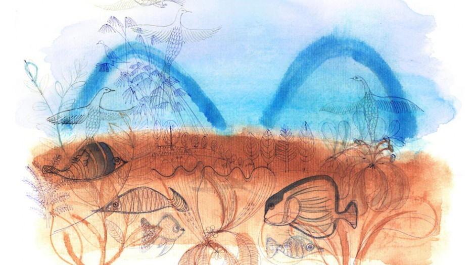 Illustrazione acquerello paesaggio