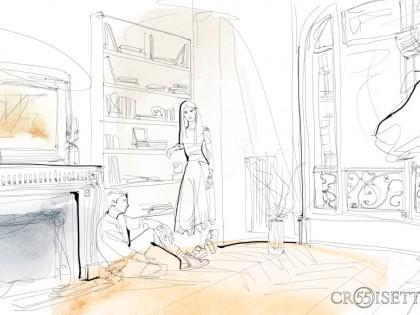 Animazione, illustrazione acquerello, moda, 55 Croisette, Alessandra Scandella