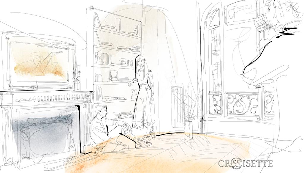 Animazione, illustrazione acquerello, moda, 55 Croisette