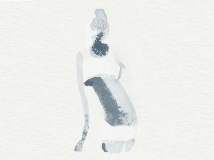 Illustrazione acquerello donna, 1,moda, Alessandra Scandella copia