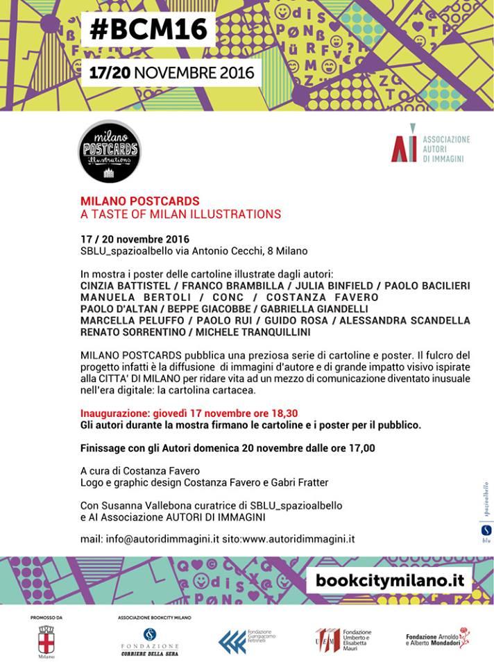 bookcity-mostra-milano-postcards-illustrazione-acquerello-alessandra-scandella-milano