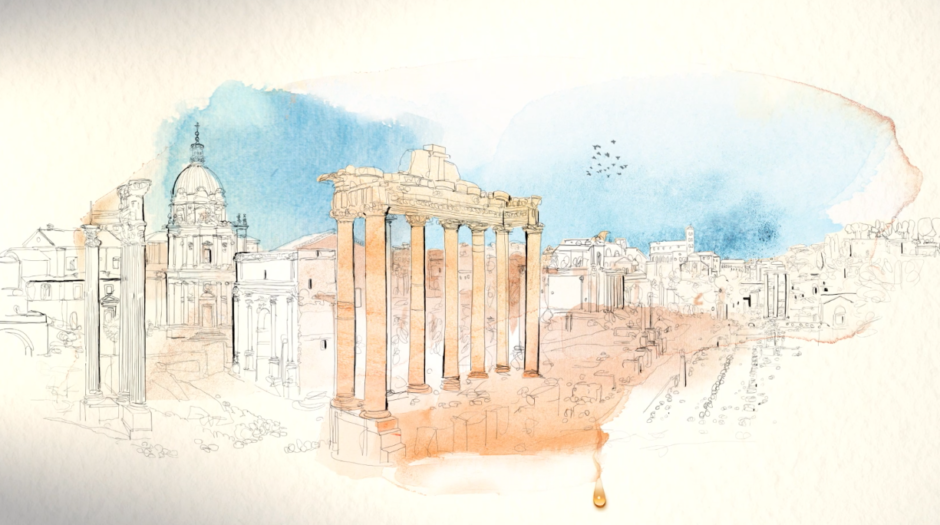 Illustration, watercolor, ancient Rome, Alessandra Scandella