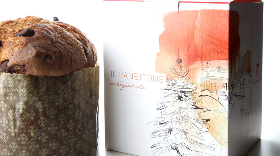 Watercolor illustration panettone, Alessandra Scandella