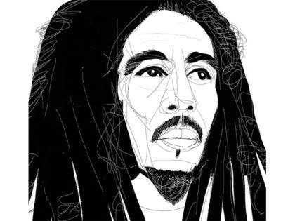 Bob Marley, portrait, ritratto, Alessandra Scandella