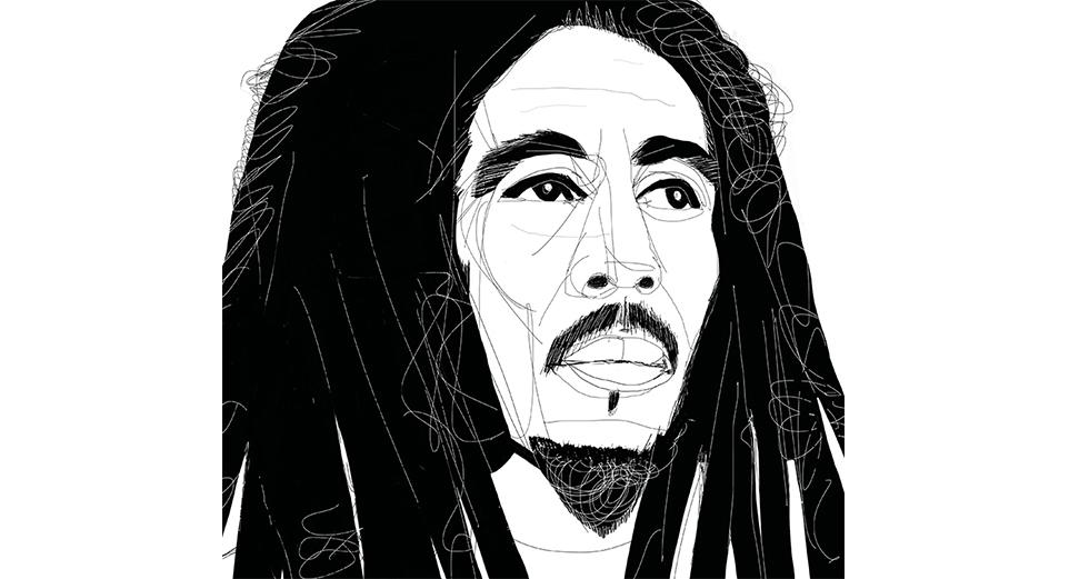 Bob Marley, portrait, ritratto