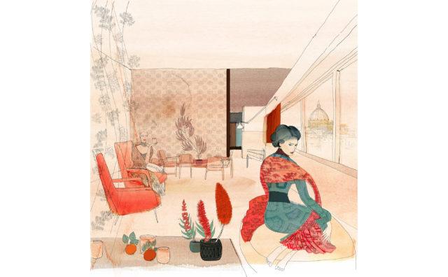 Watercolor illustration, fashion and interior, Alessandra Scandella