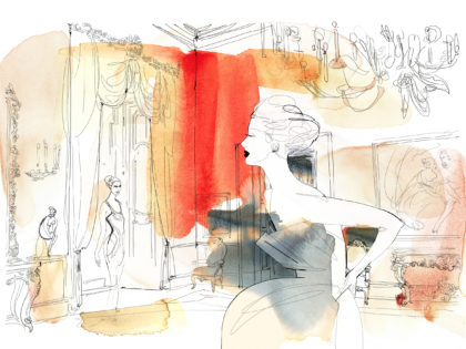 Watercolor illustration, fashion and interior, Alessandra Scandella