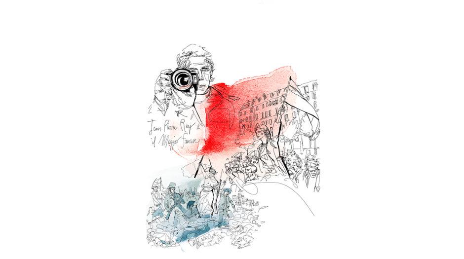 Watercolor illustration, maggio francese, conceptual, Alessandra Scandella