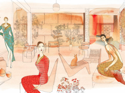 Watercvolor illustration, fashion and interior, Alessandra Scandella