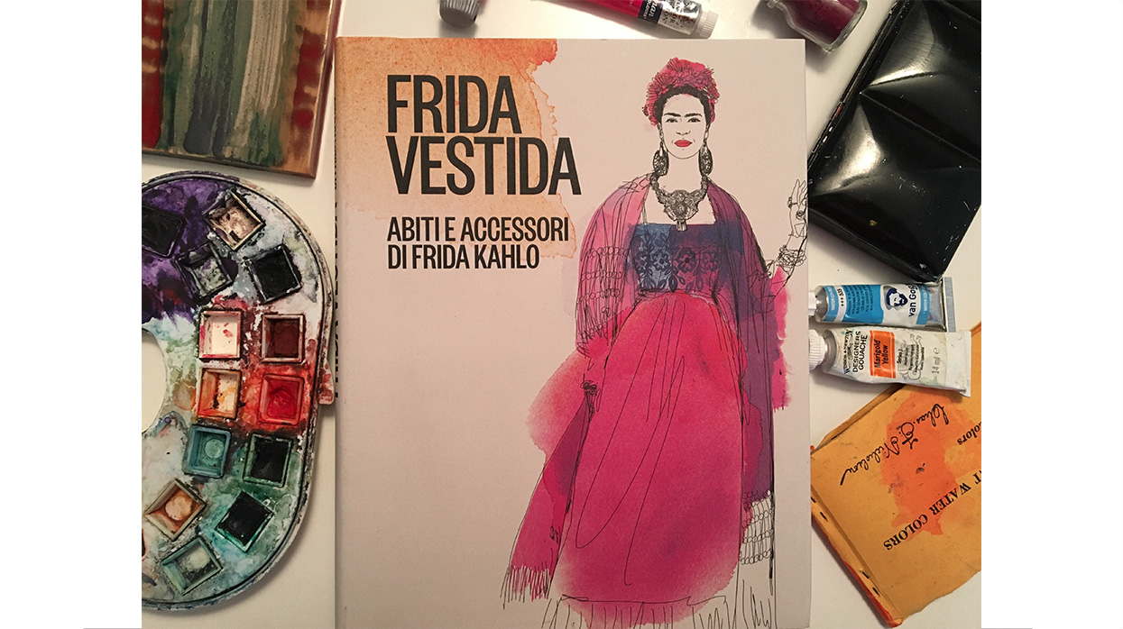 Watercolor fashion illustratrion, Frida Kahlo, Alessandra Scandella