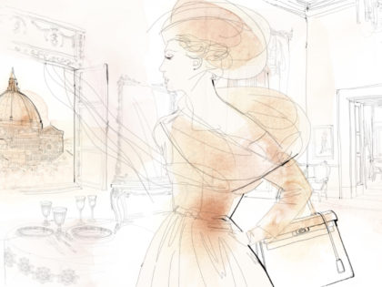Fashion watercolor illustration animation, Alessandra Scandella