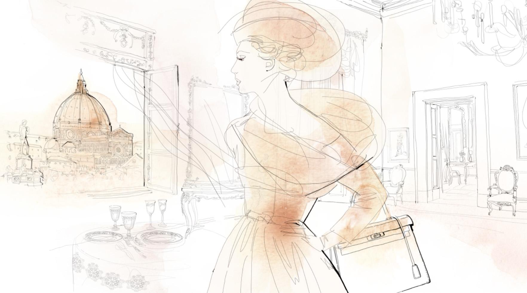 Animazione acquerello moda